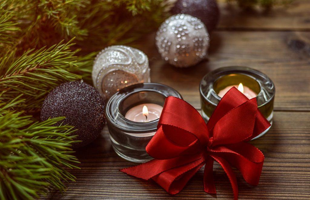 Velas para decoração de Natal