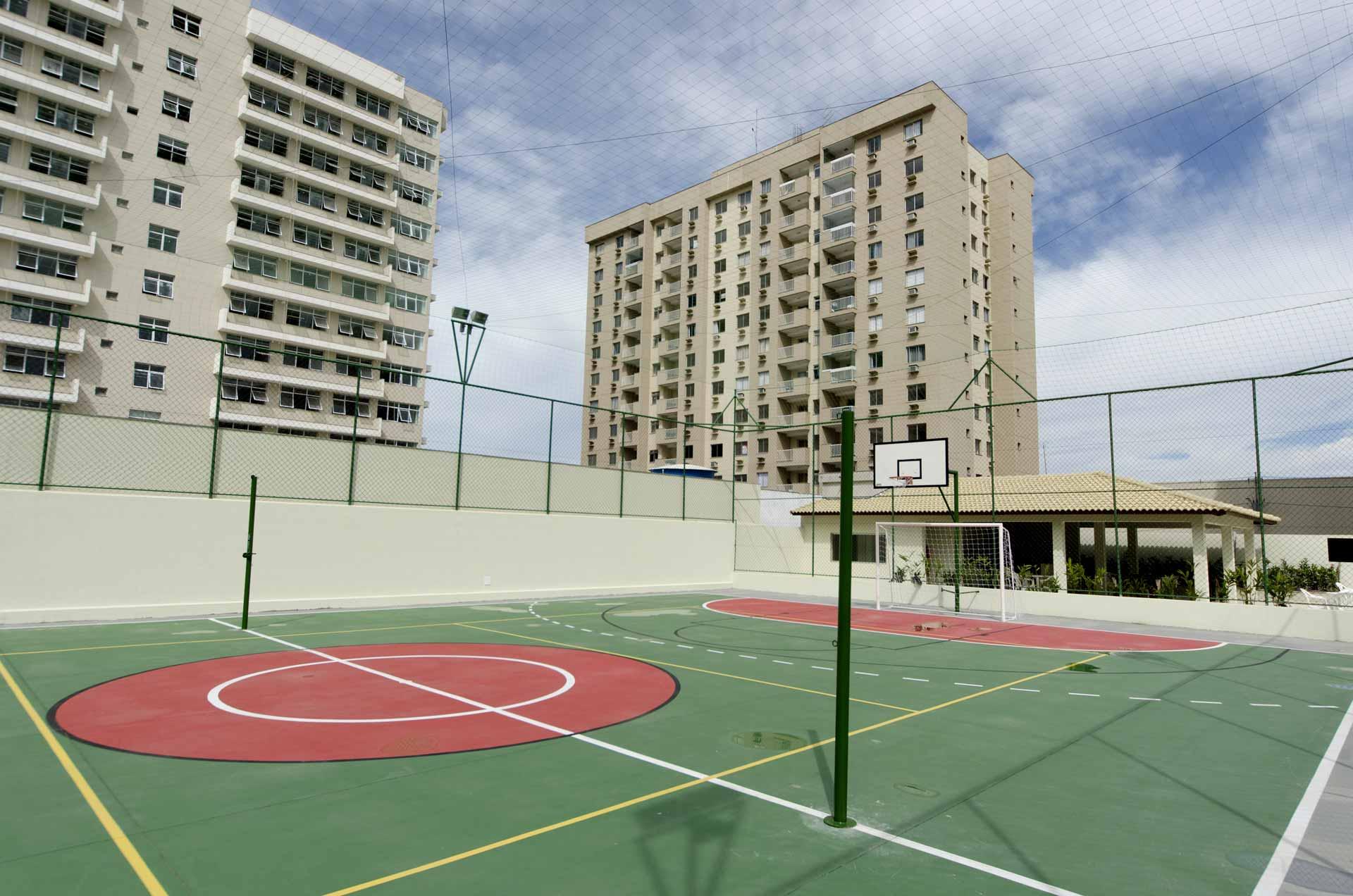 A quadra do Veredas Buritis Condomínio-Clube.