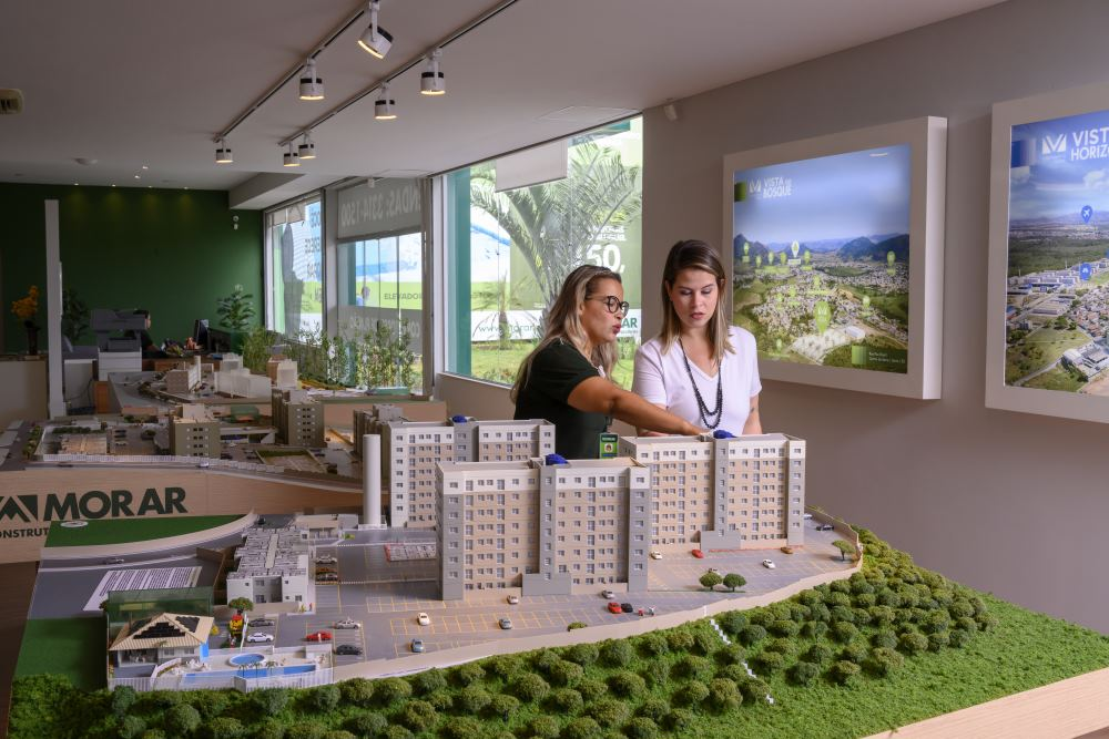 Nova loja conceito Morar Construtora, em Laranjeiras, Serra