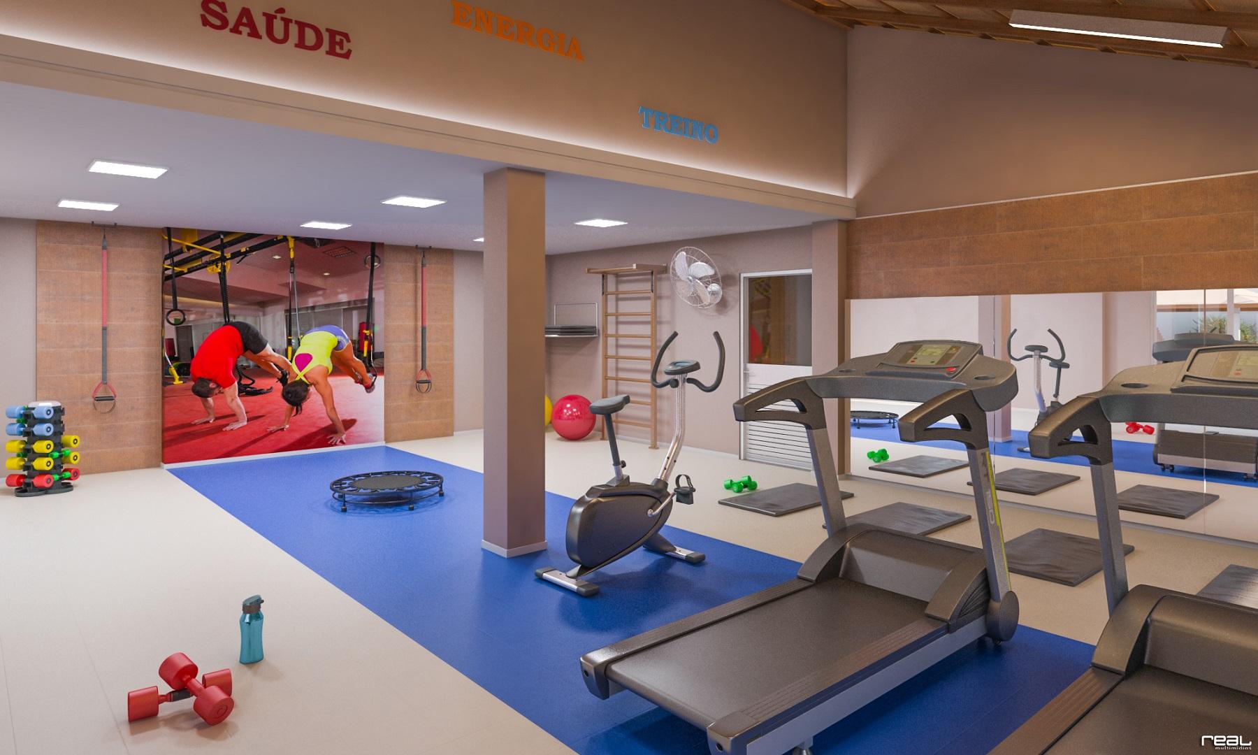 Espaço fitness do Vista do Horizonte, espaço de consumo compartilhado